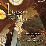 Baroque Music for Brass and Organ CD - Product Image